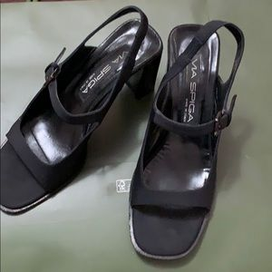 VIA SPIGA Lucia Black Shoes Made in ITALY